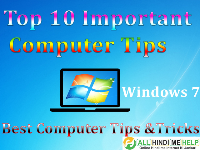 Top 9 Important Bate Computer Ke Bare Me - Windows Shortcut Key