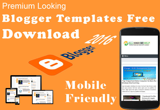 top 5 ) free blogger templates download kare 2018blogger template download kaise kare 2019