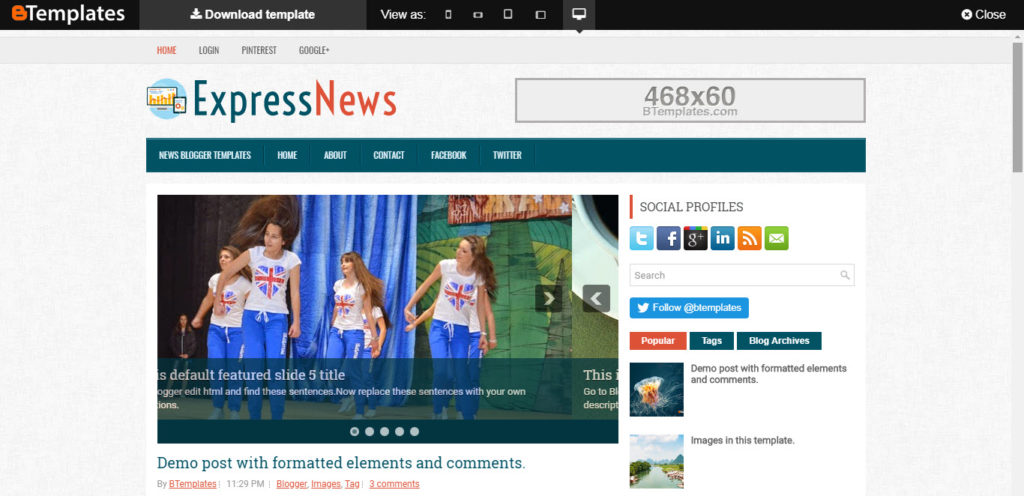 Express News latest free templates