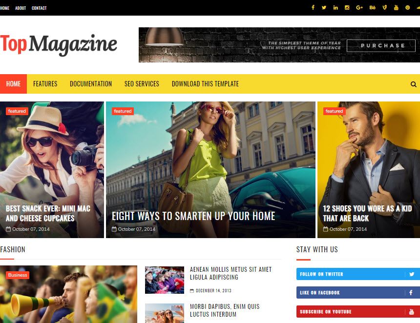 Free Responsive Magazine Style Blogger Templates 2018