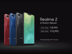 REALME 2 SPECIFICATIONS