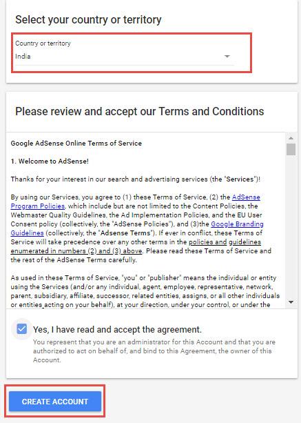 Google Adsense Account Bnaye
