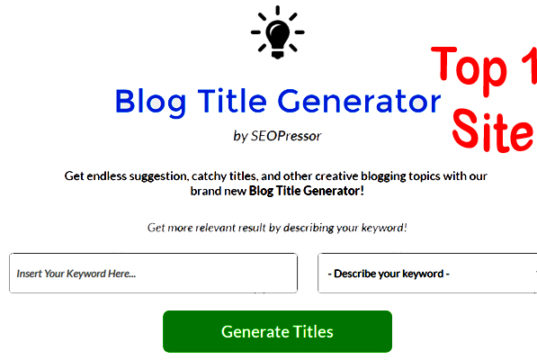 Top 10 Best Free Blog Title Generator Tools in Hindi