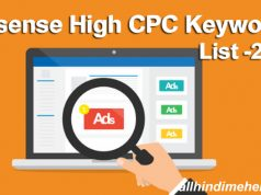 Latest Google Adsense High CPC Keywords List 2019