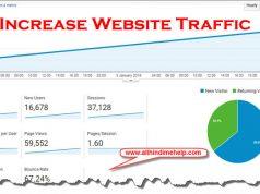 Increase Blog Website Traffic in Hindi 2019