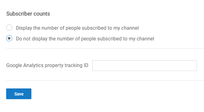 youtube Subscriber counts hide